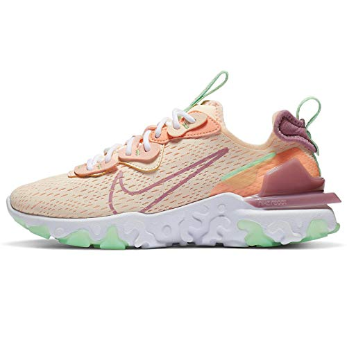 Nike NSW React Vision - Zapato casual para mujer, talla 3800, rosa (Tinte carmesí/Berry-atómico rosa), 38 EU