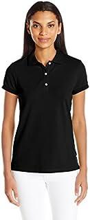 NAUTICA Womens 71KZ02 Short Sleeve Stretch Solid Polo Shirt Short Sleeve Polo Shirt