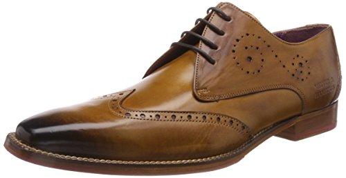 Melvin & Hamilton Oskar 7, Zapatos de Cordones Derby para Hombre, Marrón (Crust/Tan/hrs Fuxia), 39 EU