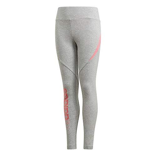 adidas GM7025 G Bold Tight Leggings Girls Medium Grey Heather/Hazy Rose 1112