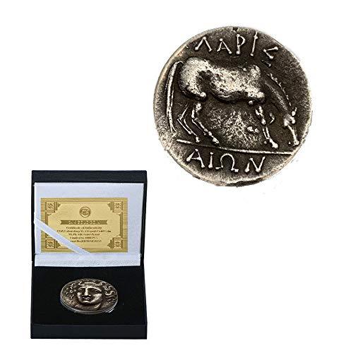 Grecia Plata Antigua Plata Proceso Moneda Medallas Colecciones Alivio Caballo en Forma Moneda Conmemorativa de Plata de Cobre Recolectar/Plata/Redondo