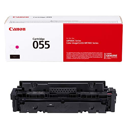 Canon Original Toner, Patrone 055 Magenta (3014C001) 1 Pack für Canon Color imageCLASS MF741Cdw, MF743Cdw, MF745Cdw, MF746Cdw, LBP664Cdw Laserdrucker Standard