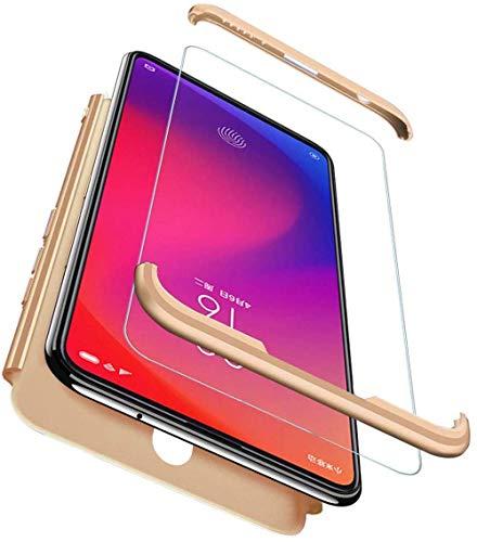 für Samsung Galaxy Note 10 Lite Hülle Hardcase 3 in 1 Ultra Dünn 360 Full Body Schutz Schutzhülle Anti-Kratzer Elegant Stoßfest Hart PC Bumper Handyhülle (Gold)