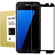 For Galaxy S7 EDGE Screen Protector[Case Friendly] ,Jyline Edge to Edge HD Shield Tempered Glass, Resistant Coated 9H hardness [ Anti-Bubble][Anti-Scratch] Screen Protector for Samsung Galaxy S7 EDGE