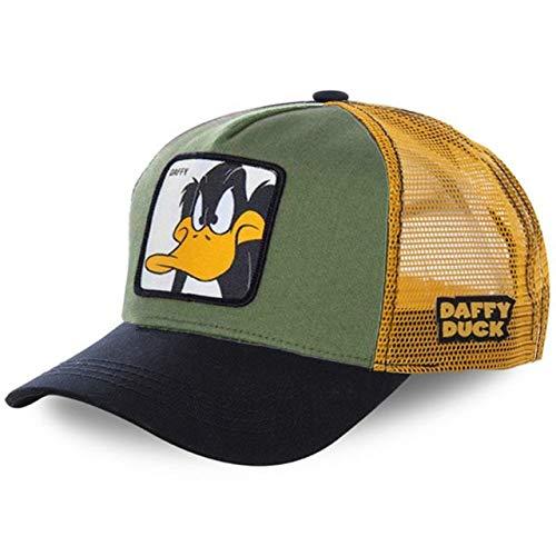 Gorra de bisbol de algodnSnapbackHombres Mujeres Hip Hop Pap Sombrero de Malla Sombrero de Camionero-Duck Black Green