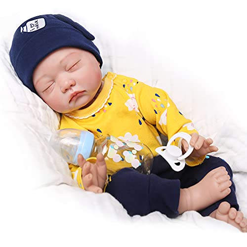 CHAREX Realistic Reborn Baby Dolls : 22 Inch Lifelike Sleeping Newborn Baby Dolls Soft Silicone Baby Dolls Weighted Toddler Rebirth Baby Dolls for Age 3+