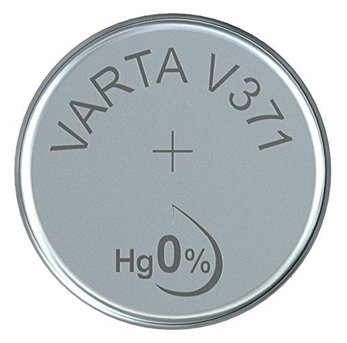 Varta 14501371 silberoxid Knopfzelle (V371 1er Pack) silber
