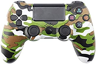 Aoile Bluetooth Wireless Joystick for PS4 Controller Fit for Playstation 4 Console for Playstation Dualshock 4 Gamepad for PS3 Console Army Green Camouflage