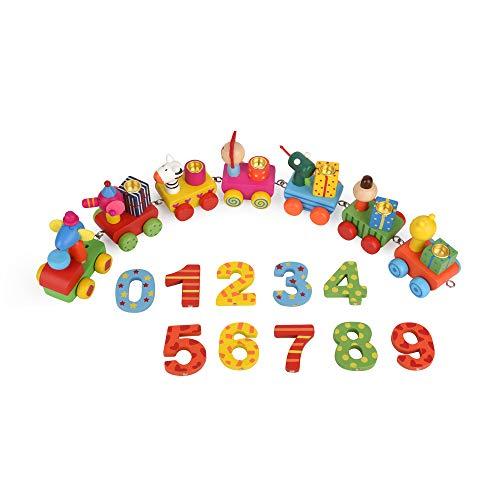 ewtshop® Geburtstagszug aus Holz für Kinder