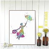 dubdubd Aquarell Mary Poppins Poster Pop Fantasy Film