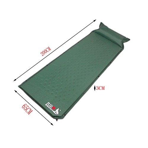 léger Unique Tapis de sol Matelas autogonflant Pad avec oreiller, Vert