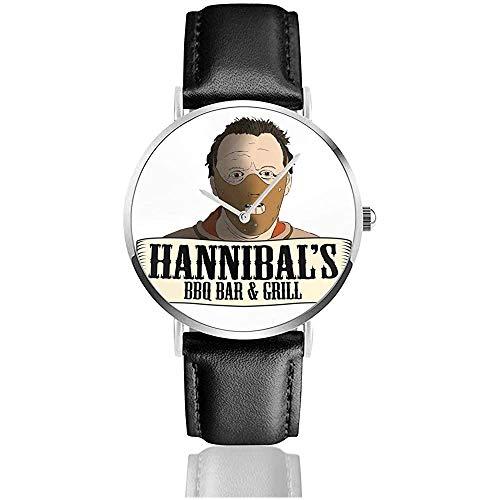Hannibals BBQ Bar and Grill Relojes Reloj de Cuero de Cuarzo con...