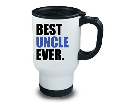 meilleur oncle jamais Métal tasse de voyage bleu Fête des Pères Anniversaire Noël