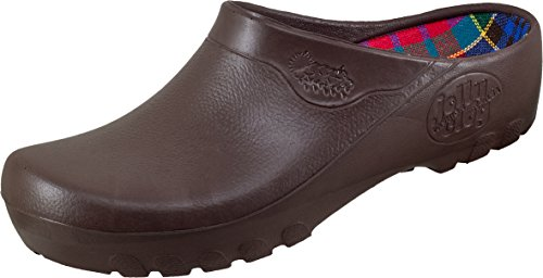 Alpro Jolly Fashion Clog Damen Clogs PU, Braun, Größe 40 mit normalem Fußbett