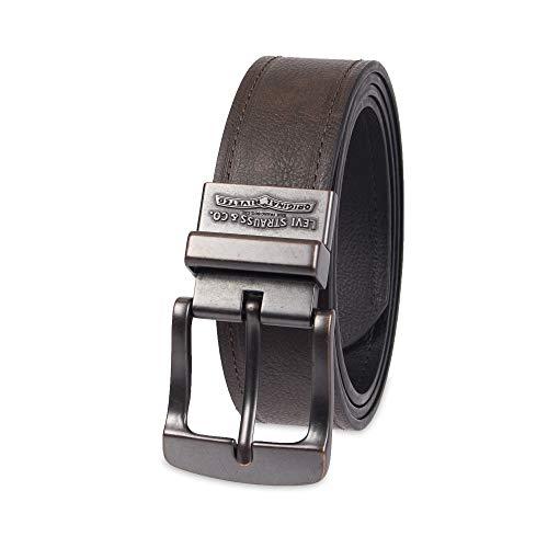 "Levi's Men's Big-Tall 1.5"" Bridle Reversible Belt-Black/Brown, 5052"