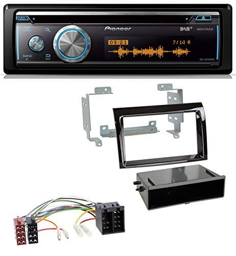 caraudio24 Pioneer DEH-X8700DAB MP3 DAB USB CD Bluetooth Autoradio für FIAT Ducato Citroen Jumper 06-11 Piano schwarz Profi