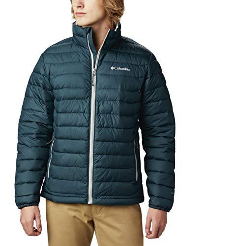 Columbia Men's Powder Lite Winter Jacket, Water repellent, Night Shadow, X-Large