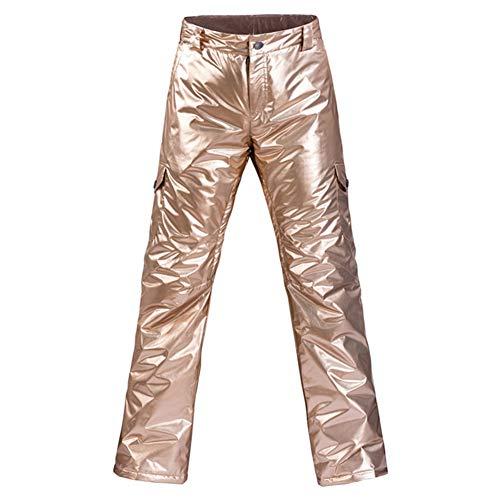 GTTBS-ski Pantalones de Esquí para Mujer Pantalón Cálido Impermeable Y Transpirable A Prueba de Viento Montañismo Antiestático Protección contra La Nieve Pantalones con 1 Pieza