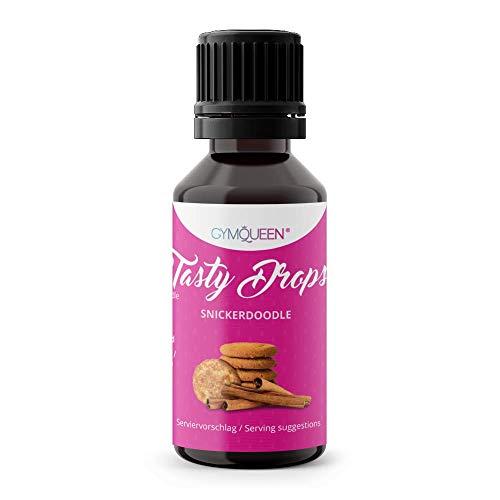 GymQueen Tasty Drops 30ml | Kalorienfreie, Zuckerfreie und Fettfreie Flavour Drops | Aroma Tropfen zum Süßen von Lebensmitteln | Geschmackstropfen ohne Künstliche Farbstoffe I Snickerdoodle