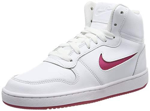 Nike Wmns EBERNON Mid, Scarpe da Basket Donna, Bianco (White/Wild Cherry 102), 41 EU