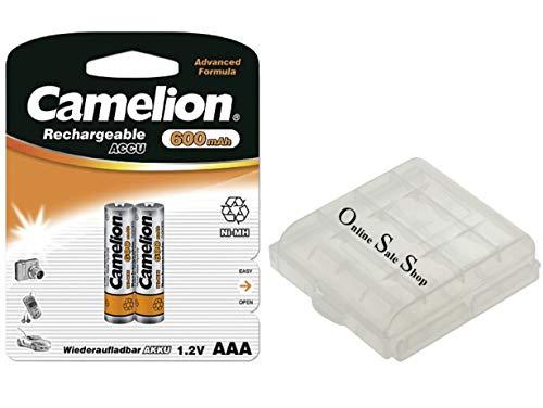 2 x AAA batterij 600 mAh oplaadbare batterij vervangende batterij voor draadloze telefoon Siemens Gigaset draadloze telefoon E560 E560HX E560A C300 C300A C430A C430H + online sale-winkel winkelwagenchip