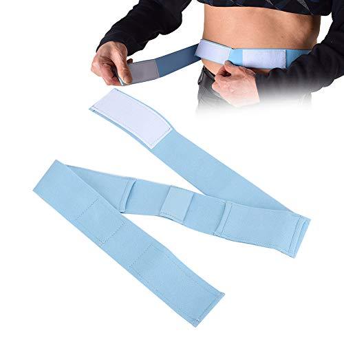 Cintura per condotto per dialisi peritoneale, supporto per la schiena addominale traspirante regolabile, cinghia per tubo G Supporti per catetere Supporti per catetere Coperchi (L)