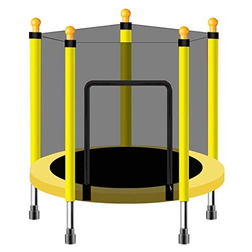XIUYU Trampolino Bambini Casual 43 Pollici - Rotonda Trampolino con Molla e Protezione Net - Salta e Rebound - Aerobica Trainer (Verde, Blu, Rosa, Giallo) (Color : Yelloiw)