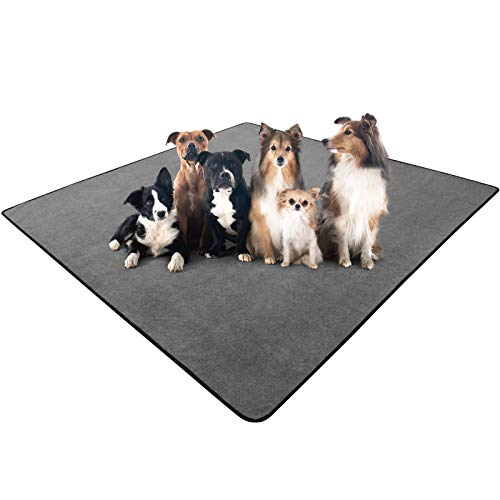 """rabbitgoo Dog Pee Pad 72"""" x 72"""", Reusable Pet Crate Pad, Large Waterproof Puppy Potty Training Pad Washable Play Mat for Dogs Cats Guinea Pigs Rabbits Whelping Incontinence Playpen Floor"""