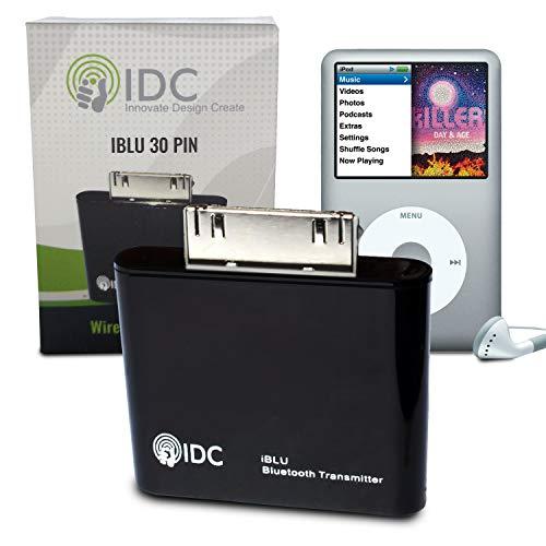IDC © i-BLU Bluetooth iPod transmisor - convierte tu iPod Bluetooth al corriente su música inalámbricamente a su altavoz o auriculares. Funciona en todos los iPods no Bluetooth incluyendo iPod Classic, iPod Nano, iPod Touch, Ipod Shuffle, Ipod Mini, Ipod Video. Compra de una empresa de Reino Unido especializada (negro)