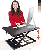 Stand Steady Standing Desk X-Elite Standing Desk | X-Elite Pro Version, Instantly Convert Any Desk into a Sit/Stand up Desk, Height-Adjustable (Black)