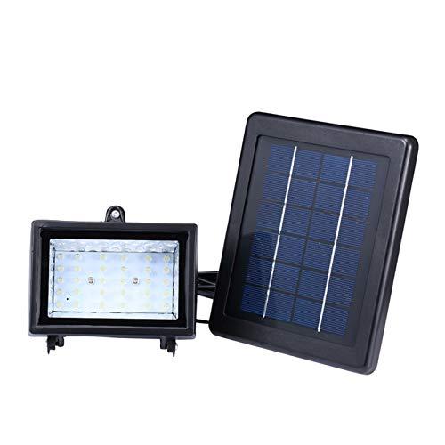 Festnight Lámpara Solar 30LED, Reflector Impermeable al Aire Libre para el hogar, proyector de césped Solar, alumbrado público, lámpara de Pared, luz de inundación Solar para jardín