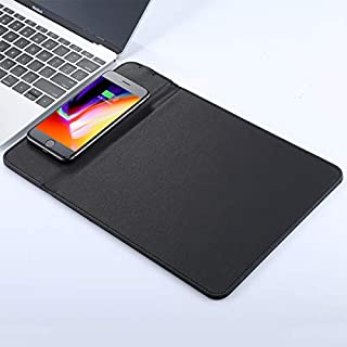 W1 5V 1A Total Output Mouse PAD QI Wireless Charger, Support QI Standard Phones, for iPhone X & 8 & 8 Plus, Galaxy S8 & S8 +, Huawei, XIAOMI, LG, Nokia, Google and Other Smart Phones (Black)