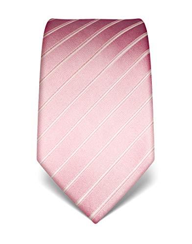 Vincenzo Boretti Corbata de hombre en seda pura, tono sobre tono, de rayas rosa
