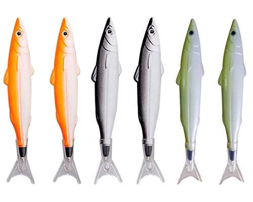 Maydahui かわいい魚型ボールペン 油性ボールペン 6本セット おしゃれ 文房具 可愛い 学生室 筆記用 手帳用ボールペン クリエイティブボールペン(ボールペンセット)