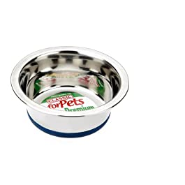 Caldex Classic Stainless Steel Non-Slip Bowl, 5.25-inch