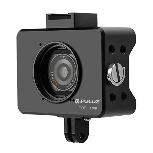 Action Camera kooi behuizing Shell CNC aluminiumlegering mand met 37mm uv objectief & basis Mount & schroef voor Sony rx0 (zwart) actie camera bescherming, zwart
