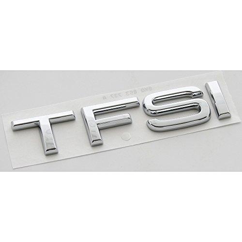 Original TFSI Schriftzug hinten Heckklappe Emblem Logo Zeichen chrom (108x22mm)