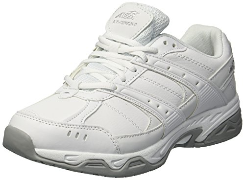 Avia Women's Avi-Union II Food Service Shoe, White/Chrome Silver, 8 Medium US