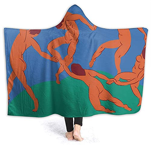 Matisse - The Dance Funda con Capucha Ultra Suave y Ligera Belle couette para salón de canapés Iluminado por canapés Picknick Geeignet para Todas Las Horas 80 'x 60