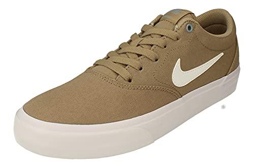 Nike SB Charge Cnvs Hombre Trainers CD6279 Sneakers Zapatos (UK 7.5 US 8.5 EU 42, Khaki White Obsidian 202)