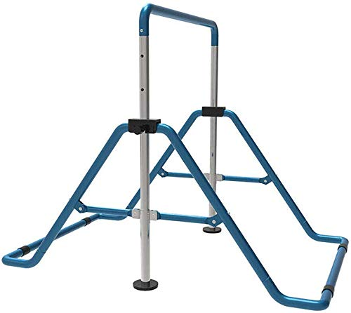 SHIOUCY Turnreck Gymnastik Kinder Garten Reck Reckanlage Turnstangen Horizontale Training Bar Trainingsgeräte Outdoor Fitness Höhenverstellbar (Blau)