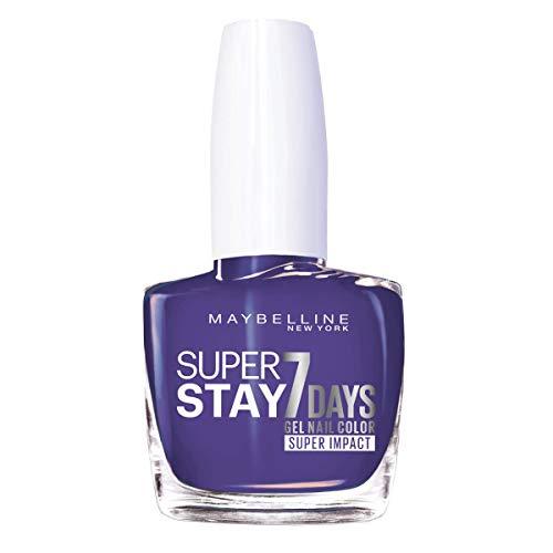 Maybelline New York - Superstay 7Days 887 All Day Plum Pintauñas Larga Duración Efecto Gel, Azul Violáceo