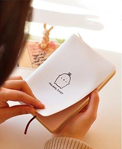 Haiker 2021-2022 White 'Molang Rabbit' Diary Any Year Planner Pocket Journal Notebook Agenda Scheduler