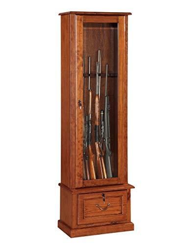 American Furniture Classics Model Wood Gun Display Cabinet, Brown
