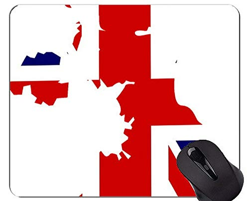Mouse Pad with Locking Edge,Great Britain Theme Personalized Rectangle Gaming Mouse Pads