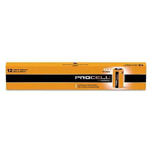 Duracell PL123BDK Procell Lithium Batteries CR123 for Camera 3V 12/Box