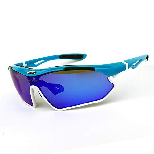 MOC Gafas de sol polarizadas deportivas TR90 UV400, protección para ciclismo, para actividades al aire libre, conducción, pesca, correr, senderismo