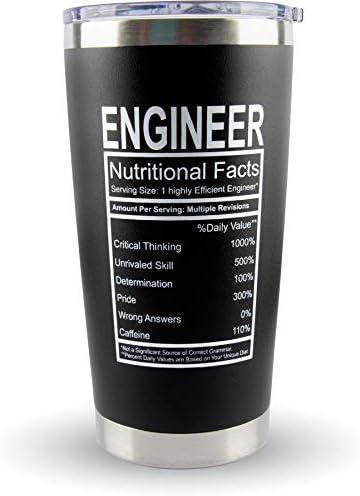Engineer Gifts Large Travel Coffee Tumbler Mug 20oz Funny Gift Idea for Mechanical Civil Men product image