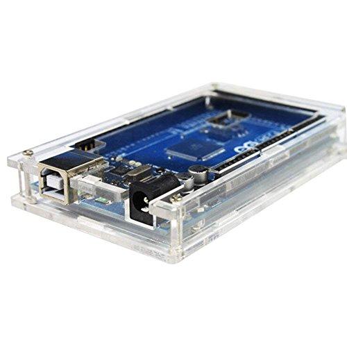 DollaTek Transparenter Acrylkasten-Shell-Einschließungs-Glanz-Kasten für Arduino MEGA 2560 R3