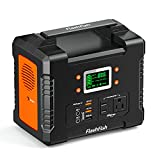 FF FLASHFISH 330W Portable Power Station, 81000mAh 300Wh Solar Generator with 110V AC/DC/USB/PD-Type-c/Car Port/SOS Light, Backup Battery Pack Power for CPAP Outdoor Adventure Camping Emergency